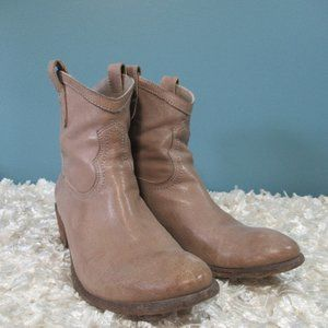 Frye Gray Western Style Ankle Boots